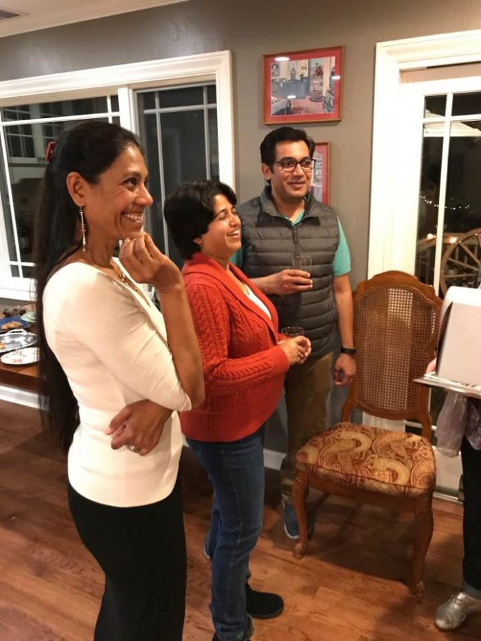 Rumana Jabeen enjoying the pie party with guests