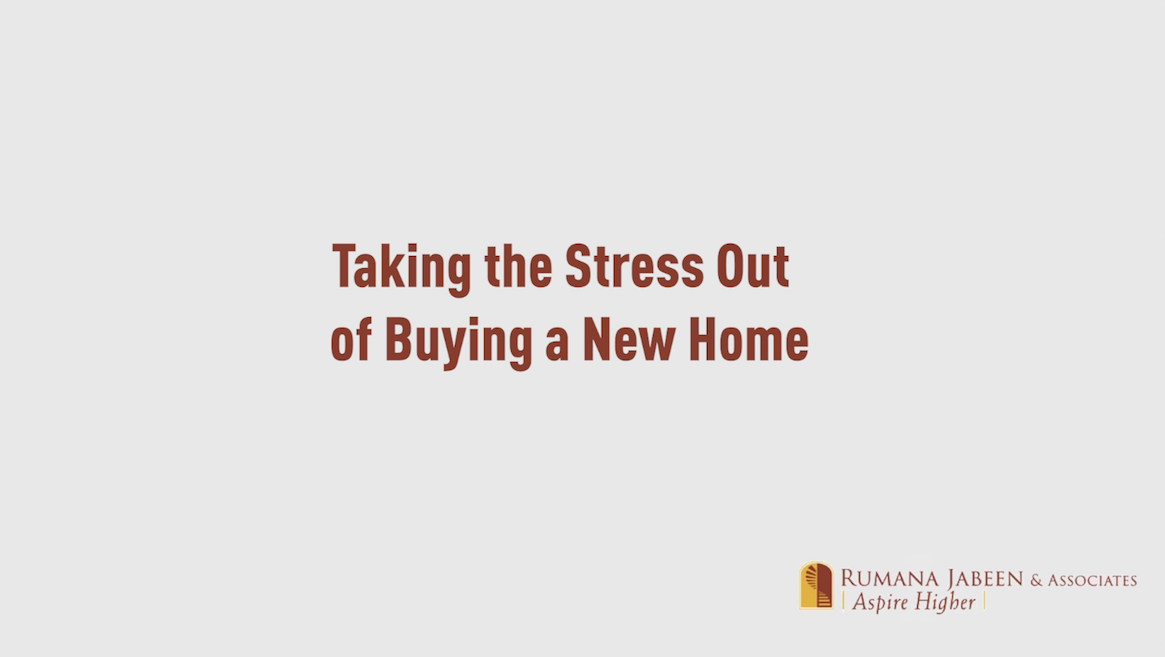 Taking the Stress out of Buying a New Home