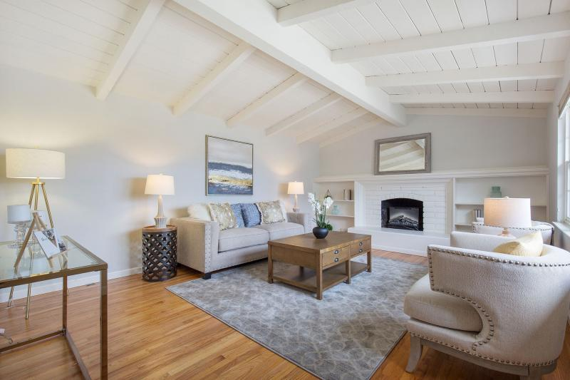 Vaulted Ceilings and Fireplace