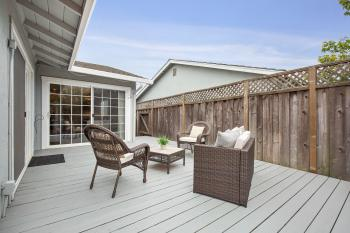 Deck with Access to the Kitchen and Master Bedroom
